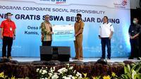 BTN menggandeng PT Telekomunikasi Indonesia (Persero) Tbk (Telkom) memberikan bantuan berupa layanan internet gratis