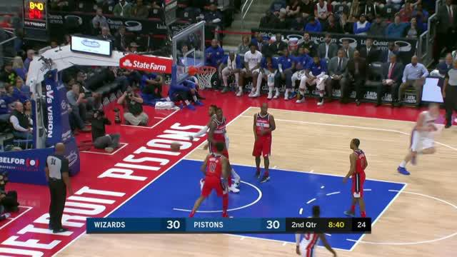 Berita video game recap NBA 2017-2018 antara Detroit Pistons melawan Washington Wizards dengan skor 103-92.