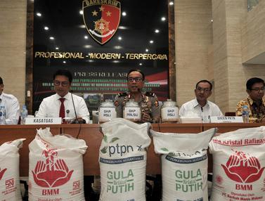 Bareskrim Polri Bongkar Pendistribusian 30 Ton Gula Rafinasi