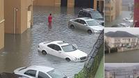 Banjir di perumahan elit Nigeria. (Twitter/@@Sumner_Sambo)