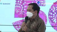 Presiden Direktur Smartfren Merza Fachys saat uji coba 5G Smartfren bersama Kemkominfo menggunakan frekuensi 26GHz (Liputan6.com/ Agustin Setyo W).