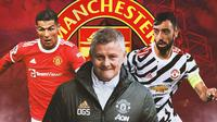 Manchester United - Cristiano Ronaldo, Ole Gunnar Solskjaer, Bruno Fernandes (Bola.com/Adreanus Titus)