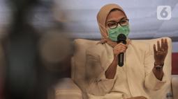 Kepala BPOM Penny Lukito saat konferensi pers terkait hasil uji klinis obat untuk Covid-19 dari UNAIR, Jakarta, Rabu (19/8/2020). Penny juga menyatakan pihak peneliti harus merevisi dan memperbaiki lagi hasil penelitiannya sesuai kaidah yang sudah ditentukan BPOM. (merdeka.com/Iqbal S. Nugroho)