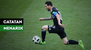 Sejumlah catatan menarik dari Lionel Messi pada matchday pertama Piala Dunia 2018 tercipta, apa saja itu?