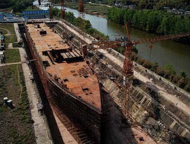 FOTO: Replika Titanic Bakal Jadi Destinasi Wisata China