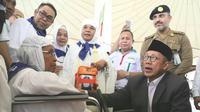 Rombongan Menteri Agama Lukman Hakim Saifuddin bersama Amirul Hajj tiba di Tanah Suci. Darmawan/MCH
