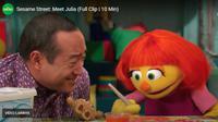 Julia, sosok muppet penyandang autisme. Foto: https://autism.sesamestreet.org/