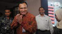 Ketua KPK Firli Bahuri memberikan keterangan terkait ulang tahun KPK yang ke-16 di Gedung KPK, Jakarta, Senin (30/12/2019). Firli Bahuri mengatakan selama belasan tahun ini capaian KPK banyak dan ke depannya harus lebih baik dari tahun sebelumnya. (merdeka.com/Dwi Narwoko)