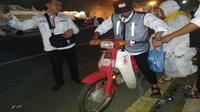 Astuti nama motor pengantar jemaah haji di Mina. Liputan6.com/Nurmayanti