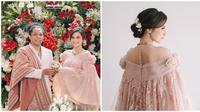 Indah Permatasari pakai gaun paduan baju Bodo modern dan kain sarung Sengkang. (Sumber: Instagram/@indahpermatas)