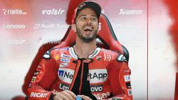 2. Andrea Dovizioso (Ducati) - Adapun Dovizioso menyudahi balapan MotoGP Styria di posisi kelima. Hasil tersebut membuat pembalap asal Italia itu menempati peringkat kedua dengan 67 poin. (AFP/Lluis Gene)