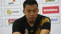 Bek Sriwijaya FC Hamka Hamzah. (Liputan6.com/Kukuh Saokani)