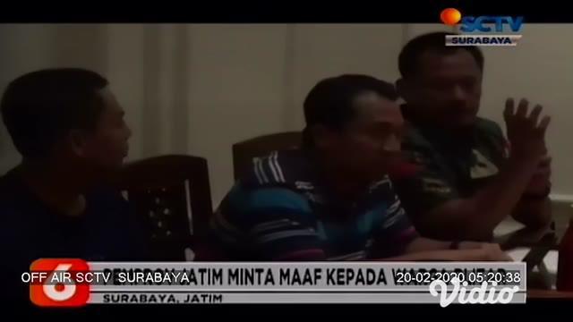 Aparat Kepolisian Resor Kota Blitar, Jawa Timur, mengamankan seorang suporter asal Blitar, Jawa Timur, karena membawa senjata tajam jenis belati.