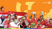 Banner 10 Olahraga Pendulang Medali Indonesia di Asian Games 2018. (Liputan6.com/Triyasni)