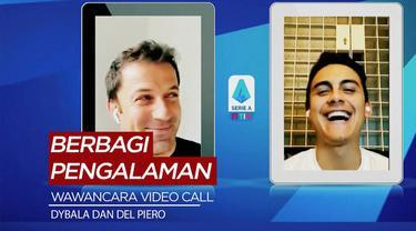 Berita Video saat dua bintang Juventus berbeda era, Paulo Dybala dan Alessandro Del Piero berbagi cerita di tengah virus corona