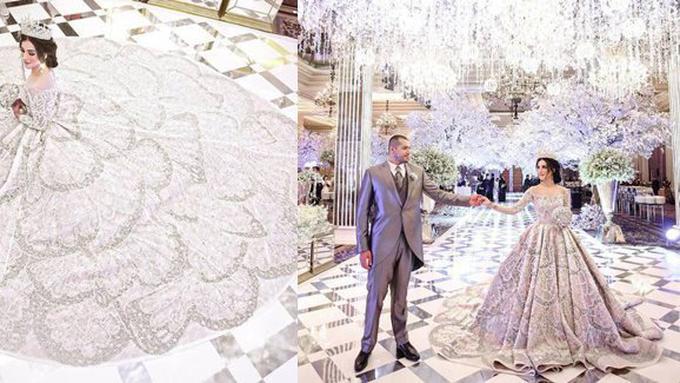 Mutiara Kupu Kupu Ini Detail Gaun Pernikahan Tasya Rancangan Tex