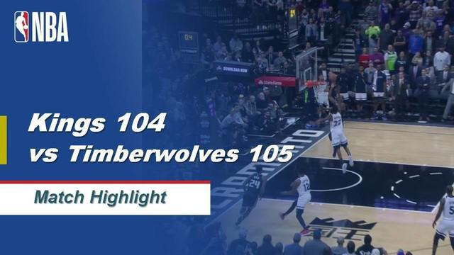 Berita Video Highlights NBA 2019-2020, Sacramento Kings vs Minnesota Timberwolves 104-105