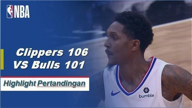 Lou Williams mendapat triple-double saat Clippers mendapatkan kemenangan atas Bulls, 106-101.