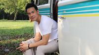 Daniel Mananta saat mengikuti pembuatan video klip untuk single kedua Regina, Jakarta, Kamis (14/7). (Liputan6.com/Herman Zakharia)