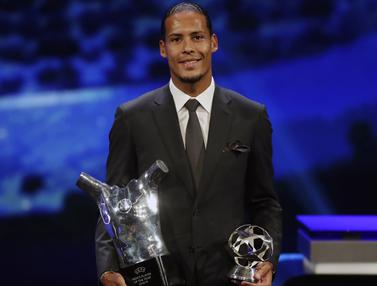 Ungguli Messi dan Ronaldo, Virgil van Dijk Jadi Pemain Terbaik Eropa