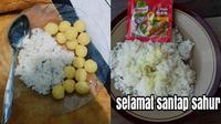 Kreasi Menu Sahur Ala Netizen (Sumber: Twitter/FOODFESS2/putrimahkota99)