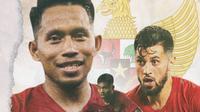 Timnas Indonesia - Stefano Lilipaly, Saddil Ramdani, Andik Vermansah (Bola.com/Adreanus Titus)