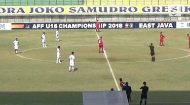 Timnas Vietnam U-16 melibas Timor Leste U-16 dengan skor cukup telak 4-0, dalam laga penyisihan Group A Piala AFF u-16 di stadion Gelora Joko Samudra, Gerisk, Jawa Timur,  Selasa sore (31/07/2018).