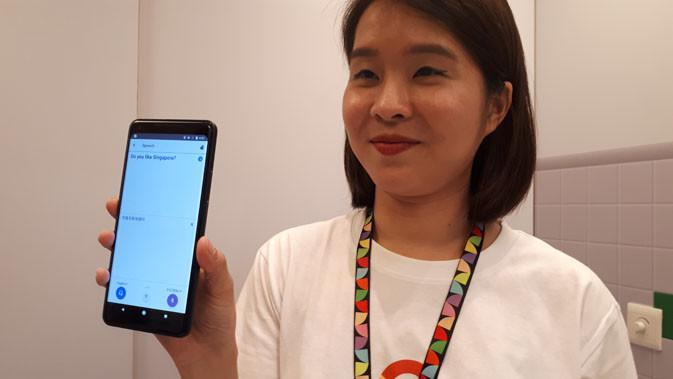 Google Pixel 2 diperlihatkan pada ajang Google Playtime 2017 di Singapura baru-baru ini. Liputan6.com/ Agustinus Mario Damar
