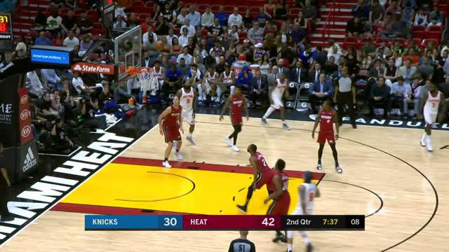 Berita video game recap NBA 2017-2018 antara Miami Heat melawan New York Knicks dengan skor 119-98.