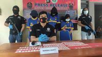 Satuan Narkoba Polres Gorontalo saat menggelar Confrence Pers (Arfandi Ibrahim/Liputan6.com)