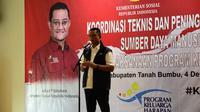 "Menteri Sosial Juliari P Batubara dalam ""Rapat Koordinasi Teknis Peningkatan Kualitas Sumber Daya Manusia Program Keluarga Harapan"" di Tanah Bumbu, Kalimantan Selatan, Jumat (4/12/2020)."