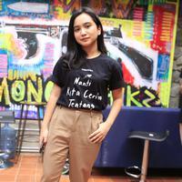 Rachel Amanda, berperan menjadi Awan di film NKCTHI.  (Muhammad Akrom Sukarya/Kapanlagi.com)
