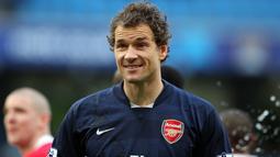 Jens Lehmann bermain untuk Arsenal pada 2003 hingga 2008 dan memutuskan gantung sepatu bersama The Gunners pada 2011. AFP/Andrew Yates)