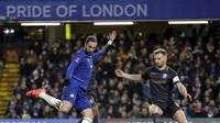 Gonzalo Higuain melakoni debut di Chelsea saat mengalahkan Sheffield Wednesday pada putaran keempat Piala FA, di Stamford Bridge, Senin (28/1/2019) dini hari WIB. (AP Photo/Kirsty Wigglesworth)