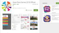 INAPGOC resmi meluncurkan aplikasi Asian Para Games 2018 untuk memudahkan masyarakatkan mengakses seputar informasi. (dok. Google Play)