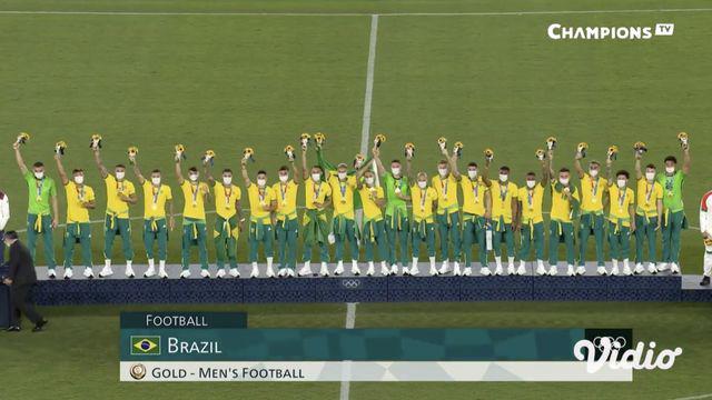 Babak final Sepak Bola Putra antara Brasil dan Spanyol digelar Sabtu (7/8) di Stadion Internasional Yokohama. Pertandingan dimenangkan Brasil dengan skor 2-1 melewati babak perpanjangan waktu.