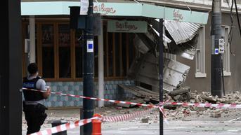 FOTO: Gempa Magnitudo 5,8 Mengakibatkan Kerusakan di Melbourne