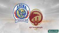 Arema dan Sriwijaya FC. (Bola.com/Dody Iryawan)