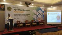 Sosialisasi dan launching kerja sama digitalisasi keuangan madrasah kanwil Kementerian Agama Provinsi Jawa Timur. (Foto: Liputan6.com/Dian Kurniawan)