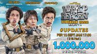 Warkop DKI Reborn: Jangkrik Boss Part 1 mencapai 1 juta penonton(Falcon Pictures/Twitter)