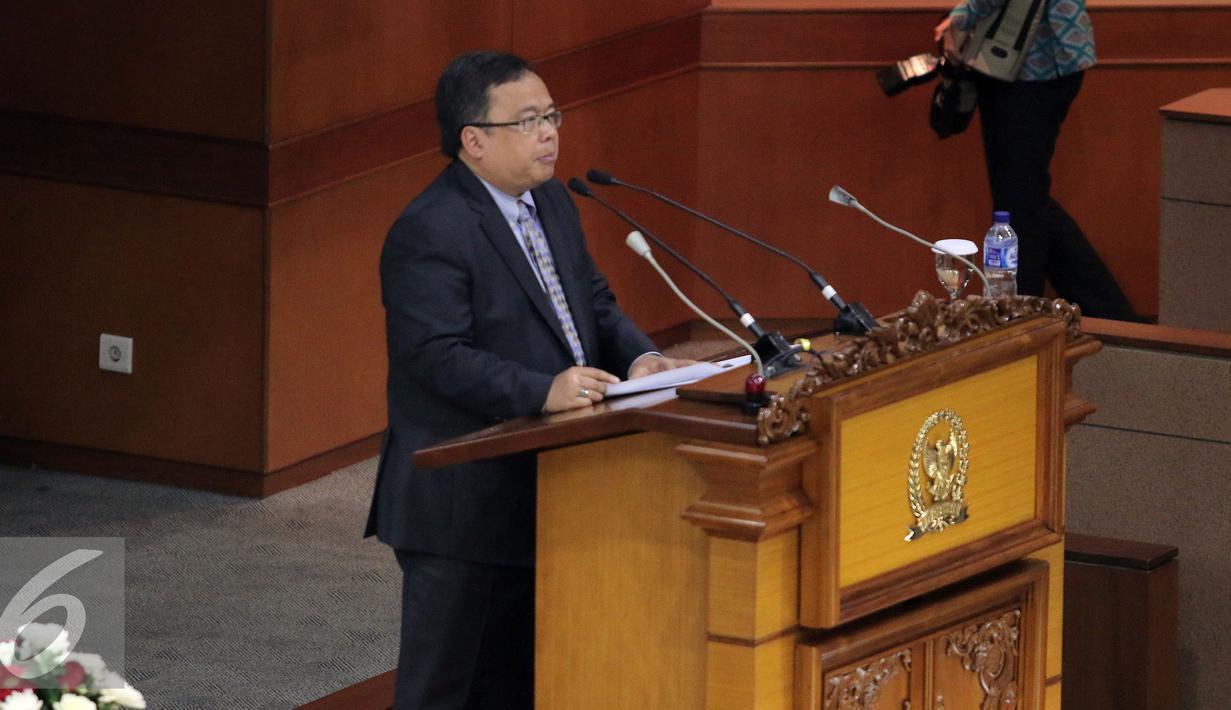 Bahas RAPBN 2017, Menteri Keuangan Ikuti Rapat Paripurna ...