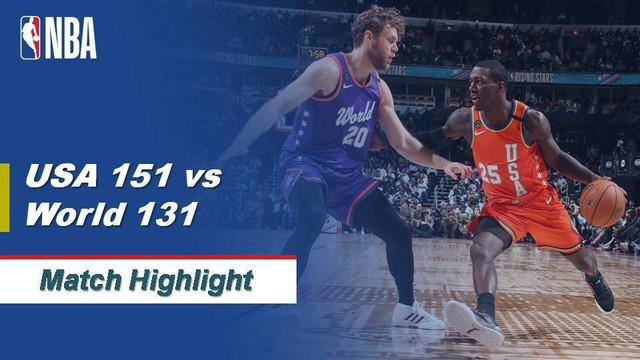 Berita Video Highlights NBA All Star 2019-2020, Rising Star USA Vs Rising Star World 151-131