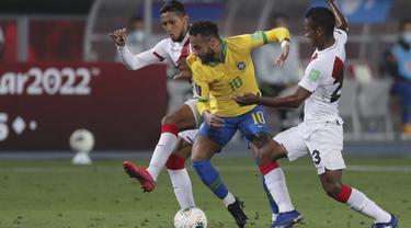 Neymar Hattrick, Brasil Hajar Peru di Kualifikasi Piala Dunia 2022