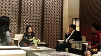 Ketua Umum PDI Perjuangan Megawati Soekarnoputri tiba di Korea Selatan untuk menghadiri DMZ International Forum on the Peace Economy. (Liputan6.com/Putu Merta Surya Putra)
