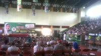 Kampanye calon anggota DPD Fahira Idris di GOR Jaktim (Liputan6.com/Silvanus Alvin)