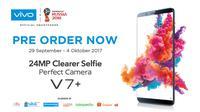 Pre-Order Vivo V7+ Berlangsung Hingga 4 Oktober di E-Commerce dan 6 Oktober di Gerai Resmi Vivo