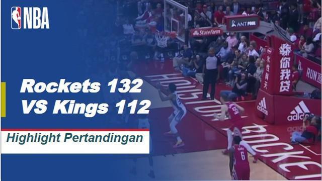 James Harden dan Chris Paul bergabung dengan 58 poin dan 17 assist ketika Rockets melaju di atas 0,500 untuk pertama kalinya musim ini dengan kemenangan 132-112 atas Kings.