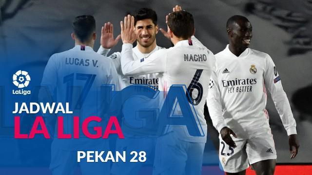 Berita motion grafis jadwal Liga Spanyol 2020/2021 pekan ke-28. Real Madrid bertandang ke markas Celta Vigo.