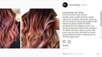 Simak warna rambut unik yang terinspirasi dari jus buah. (Foto: Instagram/@hairsthebling)