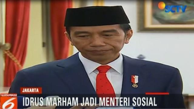 """""""Ya saya memilih Pak Idrus karena beliau cocok saja jadi mensos,"""" kata Jokowi."""